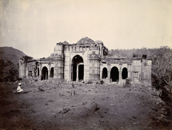 General view of small ruined mosque to the north-west of the Nagina Masjid, Champaner